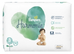 Pampers Harmonie 74 Diapers Size 3 (6-10 Kg)
