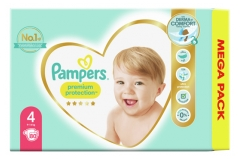 Pampers Premium Protection Maxi Pack 80 Couches Taille 4 (9-14 kg)