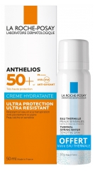La Roche-Posay Anthelios Ultra-Protective Moisturising Face Cream with Fragrance SPF 50+ 50ml + Thermal Water 50ml Offered