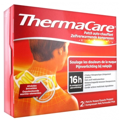 ThermaCare Warming Patch 16hrs Neck Shoulder Wrist 2 Patches