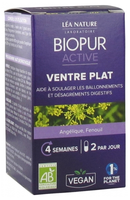Biopur Active Flat Belly 48 Vegetable Capsules