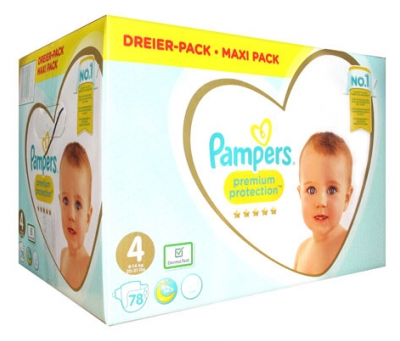 Pampers Premium Protection Maxi Pack 78 Couches Taille 4 (9-14 kg)