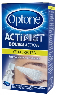 Optone ActiMist 2 en 1 Spray Oculaire Yeux Fatigués et Inconfort 10 ml