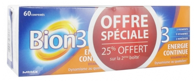 Bion 3 Continue Energy 2 x 60 Tablets
