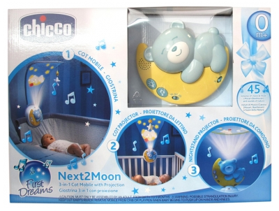 Chicco First Dreams Next2 Moon Mobile 3en1 Avec Projection 0 Mois et +
