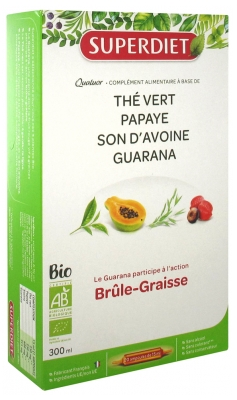 Super Diet Organic Guarana Quatuor Fat-Burner 20 Phials