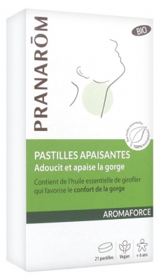 Pranarôm Aromaforce Organic Soothing Lozenges 21 Lozenges