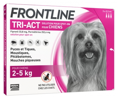 Frontline TRI-ACT Chiens 2-5 kg 3 Pipettes