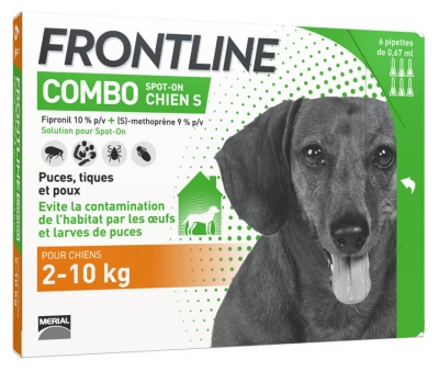Frontline Combo Dog Size S 6 Pipettes