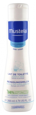 Mustela Normal Skin Face and Diaper Area Cleansing Milk 200ml