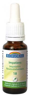 Biofloral Organic Bach Flowers Communication Sociability Impatiens n°18 20 ml