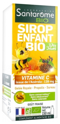 Santarome Bio Sirop Enfant Bio 150 ml