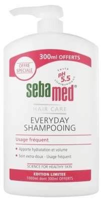 Sebamed Everyday Frequent Use Shampoo Extra-Softness Brilliance 1000ml with 300ml Free
