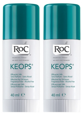 RoC Keops Déodorant Stick Lot de 2 x 40 ml