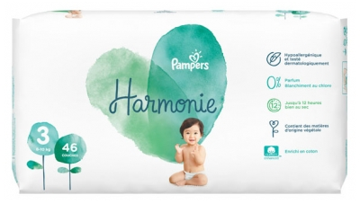 Pampers Harmonie 46 Diapers Size 3 (6-10 Kg)