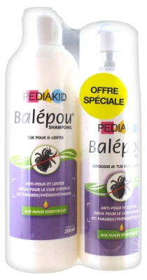 Pediakid Balépou Shampoing 200 ml + Spray 100 ml