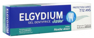 Elgydium Gel Dentifrice Junior Protection Caries 7/12 Ans Menthe Douce 50 ml