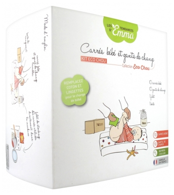 Les Tendances d'Emma Collection Eco Chou Kit Baby Squares and Change Gloves Bamboo Coloured