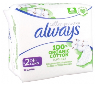 Always Cotton Protection 10 Serviettes Hygiéniques Taille 2