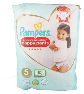 Pampers Premium Protection Nappy Pants 17 Couches-Culottes Taille 5 (12-17 kg)