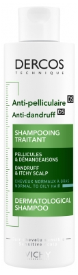 Vichy Dercos Anti-Dandruff Advanced Action Shampoo Normal to Oily Hair 200ml
