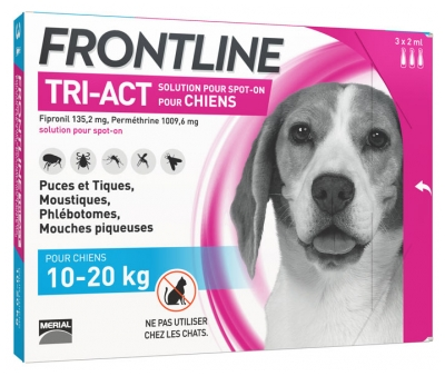Frontline TRI-ACT Dogs 10-20kg 3 Pipettes