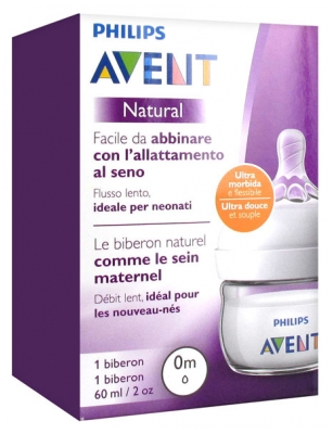 Avent Natural Baby Bottle 60ml 0 Month and +
