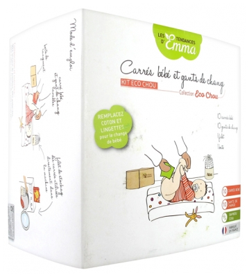 Les Tendances d'Emma Collection Eco Chou Kit Baby Squares and Change Gloves Bamboo Ecru