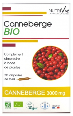 Nutrivie Organic Cranberry 20 Phials