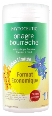 Phytoceutic Organic Evening Primrose Borage 270 Gel-Caps Economic Size