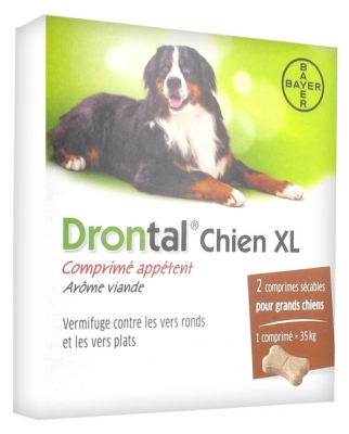 Bayer Drontal XL For Dogs 2 Tablets