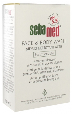 Sebamed Face & Body Wash Physio-Nettoyant Actif 200 ml