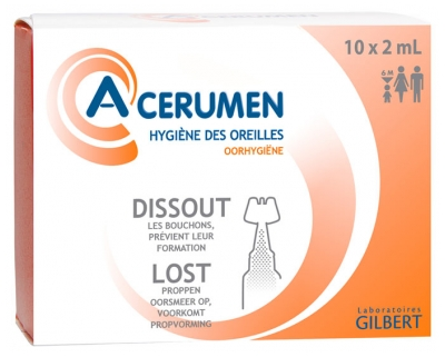 Gilbert A-CERUMEN Ear Hygiene 10 x 2ml