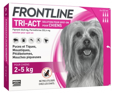 Frontline TRI-ACT Chiens 2-5 kg 6 Pipettes