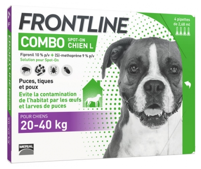 Frontline Combo Dog Size L (20-40kg) 4 Pipettes