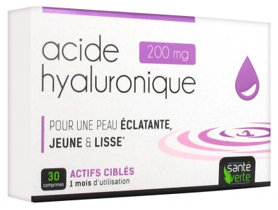 Santé Verte Hyaluronic Acid 200mg 30 Tablets