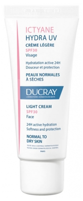 Ducray Ictyane Hydra UV Light Cream SPF 30 Face 40ml
