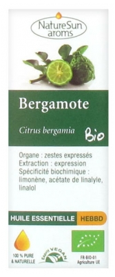 NatureSun Aroms Organic Essential Oil Bergamot (Citrus Bergamia) 10ml