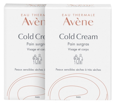 Avène Cold Cream Ultra-Rich Cleansing Bar x 2 x 100g