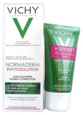 Vichy Normaderm Phytosolution Double-Correction Daily Care 50ml + Intense Purifying Gel 50ml Offered