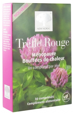 New Nordic Red Clover Menopause Hot Flashes 30 Tablets