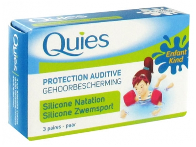 Quies Protection Auditive en Silicone Natation Enfant 3 Paires
