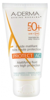 Aderma Protect AC Mattifying Fluid Very High Protection SPF 50+ 40ml