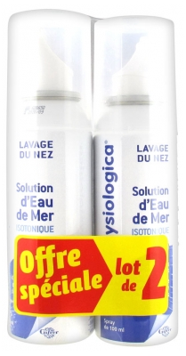 Gifrer Physiologica Solution d'Eau de Mer Isotonique Lot de 2 x 100 ml