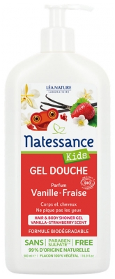 Natessance Kids Vanilla Strawberry Shower Gel 500ml