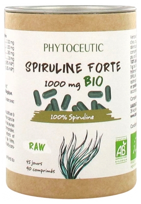 Phytoceutic Organic Spiruline Forte 1000mg 90 Tablets