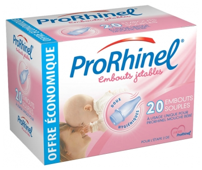 ProRhinel 20 Disposable Supple Ends for Baby Nose Blower