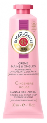 Roger & Gallet Crème Mains & Ongles Gingembre Rouge 30 ml