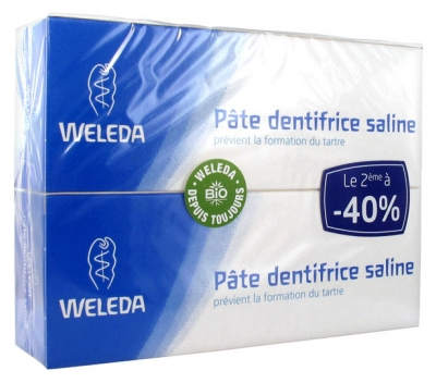 Weleda Pâte Dentifrice Saline Lot de 2 x 75 ml