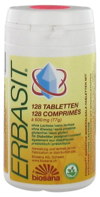 Biosana Erbasit Powder of Basic Mineral Salts of Plants Lactose Free 128 Tablets